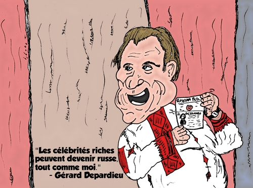 Cartoon: Gerard Depardieu caricature (medium) by BinaryOptions tagged gerard,depardieu,acteur,francais,russe,france,russie,caricature,comique,webcomic,optionsclick,trader,options,binaires,option,commerce,transactions,financieres,economiques,politiques,financier,finance,satire,impots