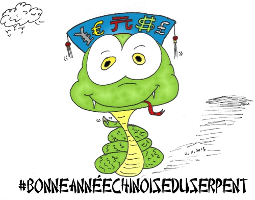 Cartoon: serpent chinois du nouvel an (medium) by BinaryOptions tagged optionsclick,trading,trader,tradez,news,option,binaire,options,binaires,forex,jpy,usd,gbp,eur,cny,financier,serpent,dessin,caricature,comique,webcomic