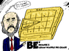 Cartoon: Ben Bernanke Belgian Waffle (small) by BinaryOptions tagged ben,bernanke,belgian,waffle,pie,chart,caricature,federal,reserve,cartoon,comic,webcomic,business,market,economics,optionsclick,binary,option,options,trade,trader,trading,finance,financial