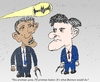Cartoon: Obama Romney and the Batsignal (small) by BinaryOptions tagged binary,option,trader,options,trading,obama,romney,cariacture,batman,batsignal,financial,editorial,business,cartoon,comic,parody,satire