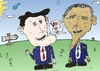 Cartoon: ROMNEY et OBAMA en caricature (small) by BinaryOptions tagged mitt,romney,candidat,president,barack,obama,politique,caricature,editorial,comique,affaires,optionsclick,binaire,binaires,options,option,trading,trader,tradez,news,infos,nouvelles,actualites,satire