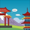 Cartoon: The JPY Pagoda chat (small) by BinaryOptions tagged binary,option,options,trade,trader,trading,pagoda,japanese,yen,jpy,currency,forex,currencies,news,editorial,cartoon,webcomic,optionsclick,satire