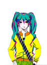 Cartoon: miku (small) by meyco tagged net,vocaloid,miku