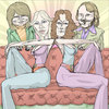 Cartoon: Abba (small) by wambolt tagged caricature,disco,music,seventies