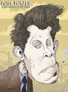 Cartoon: Tom Waits (small) by wambolt tagged caricature,music,bohemian