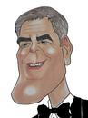 Cartoon: George Clooney (small) by Berge tagged caricature,american,movie,pastel,coloured