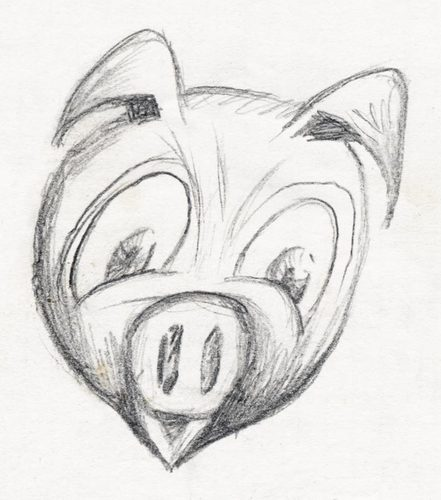Cartoon: pig (medium) by vokoban tagged pig