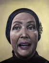 Cartoon: Little Edie from Grey Gardens (small) by vokoban tagged oil,painting,little,edie,bouvier,beale,edith,grey,gardens,maysles