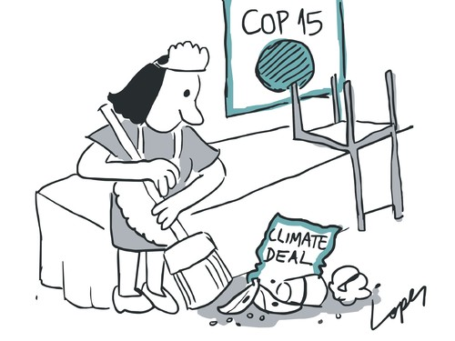 Cartoon: COP15 Deal (medium) by Lopes tagged cop15,copenhagen,climate,change,global,warming,agreement,conference