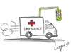 Cartoon: Nonstop Ambulance (small) by Lopes tagged ambulance,traffic,light,green,emergency,car,hurry,health,healthcare
