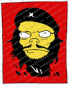 Cartoon: Che Guevara (small) by gamez tagged che,guevara,red,black,yellow,white,four,square,one,two,three