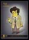 Cartoon: CoLumBo (small) by gamez tagged peter,falk,columbo,gamez,gmz,georg,george,geo,georgia,simpson,detective,leuthenant,movie,yellow,shirt,ylinj,details