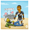 Cartoon: USAma been La Den (small) by gamez tagged gamez,gg,georg,barack,obammamia