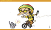 Cartoon: yellow sunGLases (small) by gamez tagged gmz