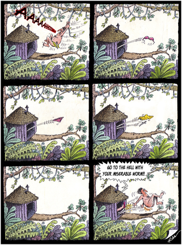Cartoon: Tarzan (medium) by Ridha Ridha tagged tarzan,artoon,by,ridha,from,my,erotic,book,viva,eva,which,was,published,1994,in,germany
