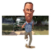 Cartoon: Run-Forrest-Run (small) by carcoma tagged caricatura,caricature,carcoma,flm,movie,actor,forrest,gump,hanks,pelicula,cine,cinema