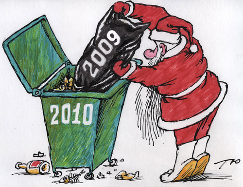 Cartoon: New Year (medium) by tunin-s tagged new,year