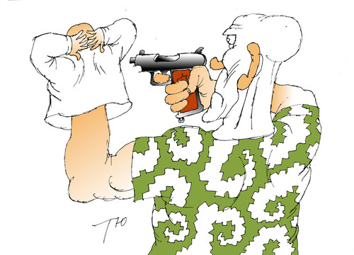 Cartoon: Shoot (medium) by tunin-s tagged shoots,ukrainien