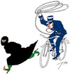 Cartoon: French rodeo (small) by tunin-s tagged french,law
