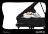 Cartoon: Musiker... (small) by Carlo Büchner tagged musik,piano