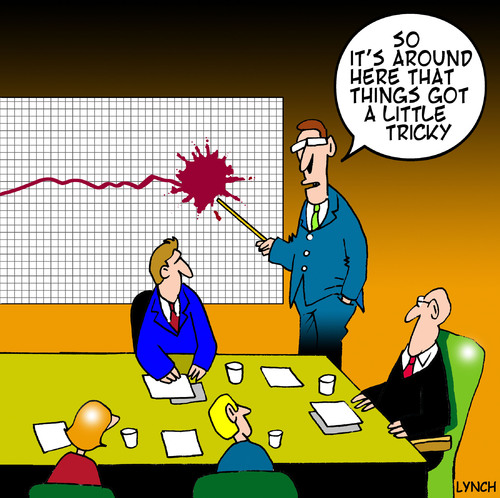 Cartoon: a little tricky (medium) by toons tagged business,graph,boardroom,gfc