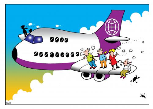 Cartoon: airplane smokers (medium) by toons tagged airlines