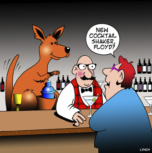 Cartoon: Cocktail shaker (medium) by toons tagged cocktails,kangaroos,cocktail,shaker,cocktails,kangaroos,cocktail,shaker