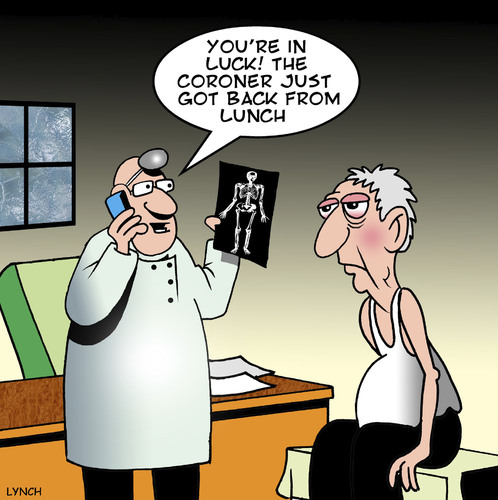 Cartoon: Coroner (medium) by toons tagged coroner,rays,old,age
