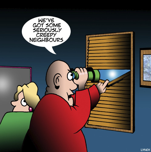 Cartoon: Creepy neighbours (medium) by toons tagged spying,neighbours,peeping,tom,binoculars,spying,neighbours,peeping,tom,binoculars