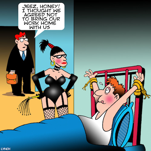 Cartoon: Dominatrix (medium) by toons tagged work,from,home,bondage,dominatrix,whipping,kinky,work,from,home,bondage,dominatrix,whipping,kinky