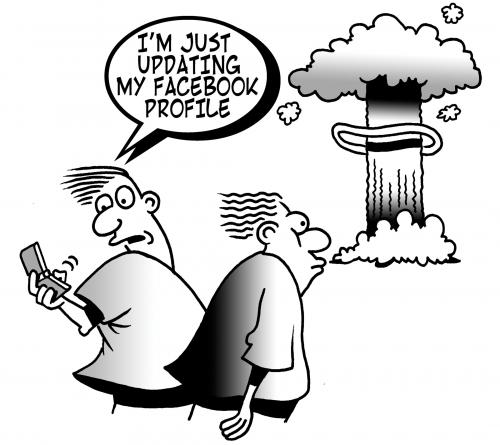 Cartoon: facebook (medium) by toons tagged facebook,internet,dating,mobile,phones,my,space