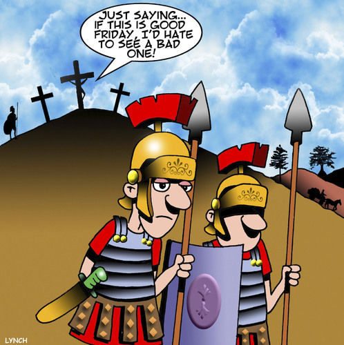 Cartoon: Good Friday (medium) by toons tagged easter,good,friday,crucifixion,jesus,on,the,cross,roman,soldiers,easter,good,friday,crucifixion,jesus,on,the,cross,roman,soldiers