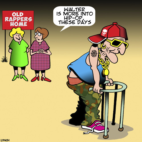 Cartoon: Hip replacement (medium) by toons tagged rap,music,hip,replacement,hop,pensioners,old,age,nursing,home,rap,music,hip,replacement,hop,pensioners,old,age,nursing,home