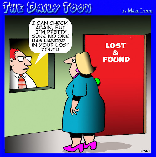 Cartoon: Lost youth (medium) by toons tagged lost,and,found,youth,lost,and,found,youth