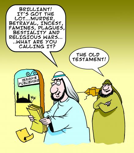 Cartoon: old testament (medium) by toons tagged religion,bible,old,testament,history,moses