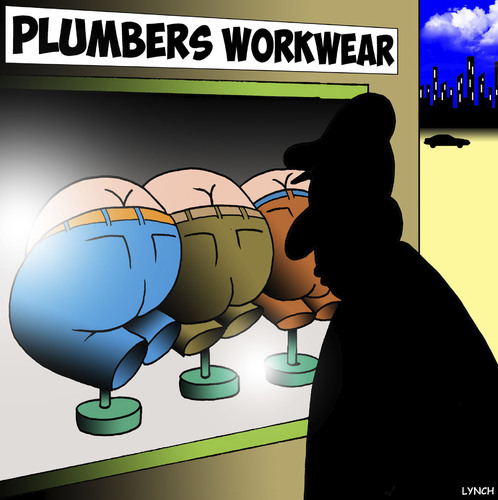 Cartoon: Plumbers (medium) by toons tagged over,bending,bums,plumbers,clothes,work,work,clothes,plumbers,bums,bending,over