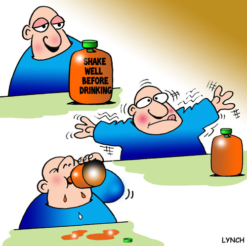Cartoon: Shake well (medium) by toons tagged shake,well,before,drinking,juice,orange,drinks,shaking,fruit,stupidity