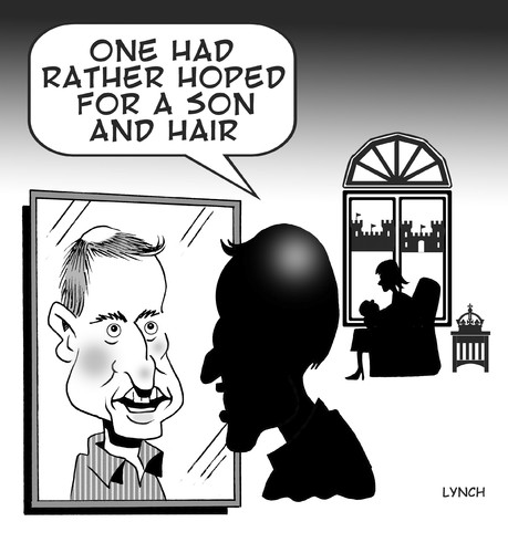 Cartoon: Son and Hair (medium) by toons tagged royal,birth,baby,will,and,kate,new,prince