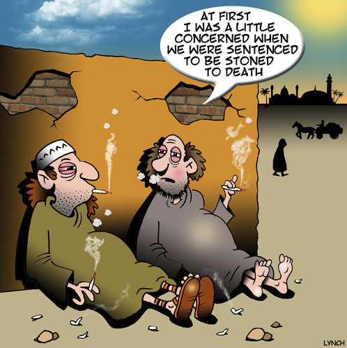 Cartoon: Stoned to death (medium) by toons tagged stoning,stoned,to,death,marijuana,drugs,middle,eastern,customs,punishment,stoning,stoned,to,death,marijuana,drugs,middle,eastern,customs,punishment