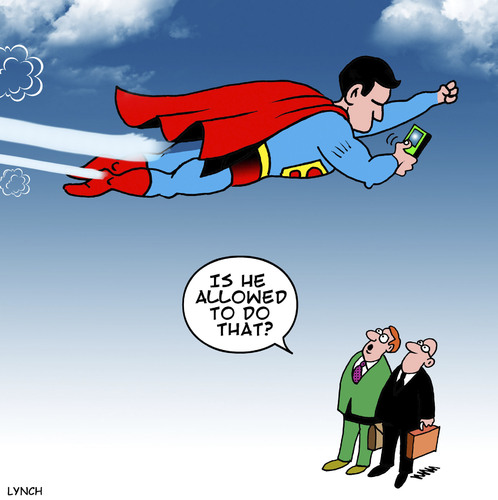 Cartoon: Super texter (medium) by toons tagged texting,while,driving