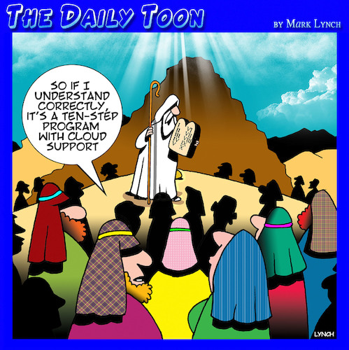 Cartoon: Ten commandments (medium) by toons tagged moses,ten,commandments,carved,in,stone,step,program,moses,ten,commandments,carved,in,stone,step,program