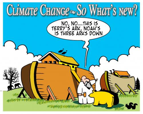Cartoon: Terrys ark (medium) by toons tagged noah,ark,climate,change,floods,bible
