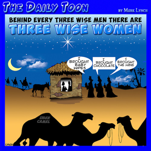 Cartoon: Three wise men (medium) by toons tagged behind,every,man,wise,men,women,bethlehem,jesus,mary,and,joseph,uber,manger,behind,every,man,wise,men,women,bethlehem,jesus,mary,and,joseph,uber,manger