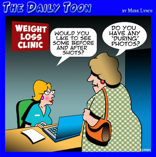 Cartoon: Weight loss (medium) by toons tagged before,and,after,obesity,dieting,overweight,health,farm,before,and,after,obesity,dieting,overweight,health,farm
