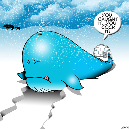 Cartoon: Whaling (medium) by toons tagged whale,meat,eskimos,fishing,igloo,north,pole,snow,whale,meat,eskimos,fishing,igloo,north,pole,snow