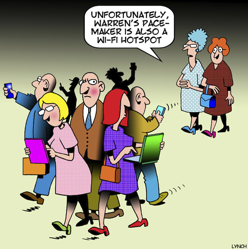 Cartoon: Wi Fi hotspot (medium) by toons tagged pacemaker,wi,fi,smart,phones,internet,access,heart,disease,pacemaker,wi,fi,smart,phones,internet,access,heart,disease