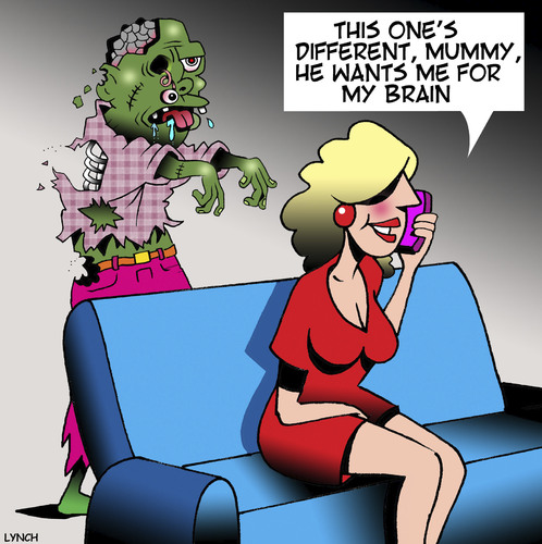 Cartoon: Zombie (medium) by toons tagged zombies,boyfriend,brainy,girls,zombies,boyfriend,brainy,girls