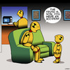 Cartoon: An accident (small) by toons tagged accidental,pregnancy,crash,test,dummy,children,father,and,son,talks