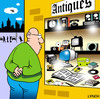 Cartoon: antiques (small) by toons tagged antiques,shopping,computers,newspapers