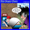 Cartoon: ATM (small) by toons tagged atm,hand,bank,banking,plumbers,trousers,crack,pensioners,short,sighted